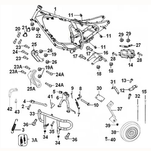 16. Engine bracket rear