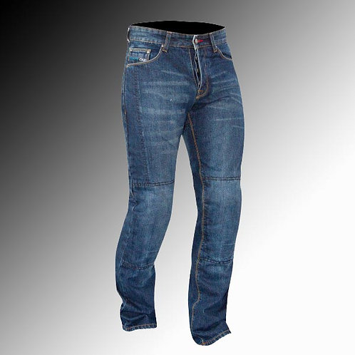 Route One Lenox Huntsman armoured denim blue motorcycle jeans