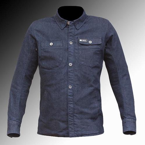 Merlin Street Trenton Kevlar armoured blue motorcycle shirt