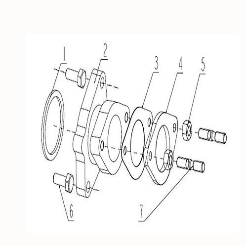 02. Carburettor insulator 1