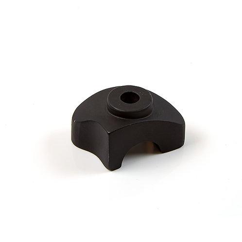 30. Handle bar base lower left satin black