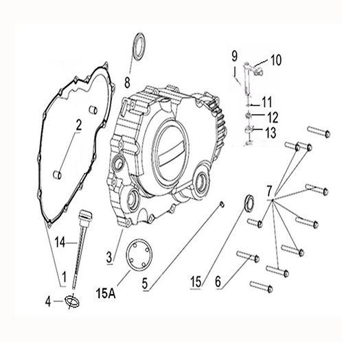 08. Clutch cover oil seal 16x28x7