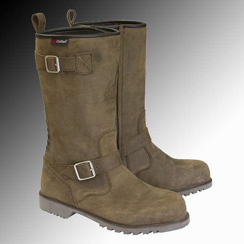 Merlin Heritage Legacy Outlast G24 leather brown motorcycle boots