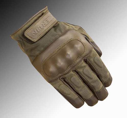 Merlin Heritage Ranton wax / leather olive brown motorcycle gloves