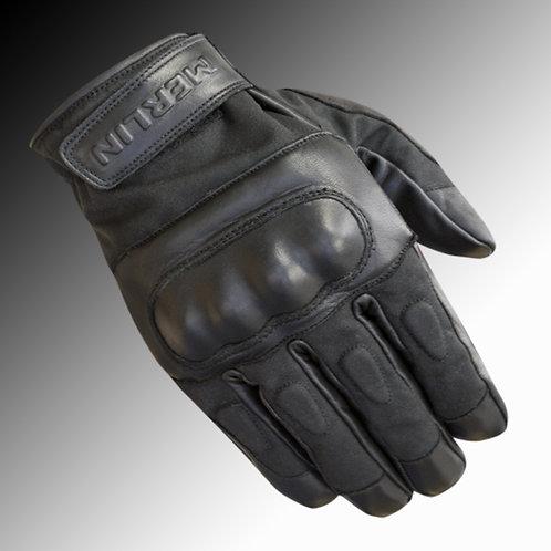 Merlin Heritage Ranton wax / leather black motorcycle gloves