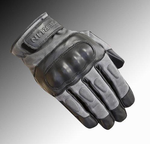 Merlin Heritage Ranton wax / leather black grey motorcycle gloves
