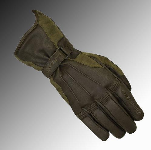 Merlin Heritage Darwin wax / leather Outlast olive brown motorcycle gloves
