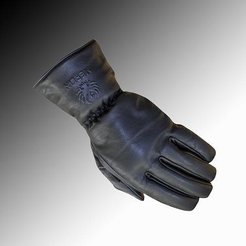 Merlin Heritage Stone leather waterproof black motorcycle gloves
