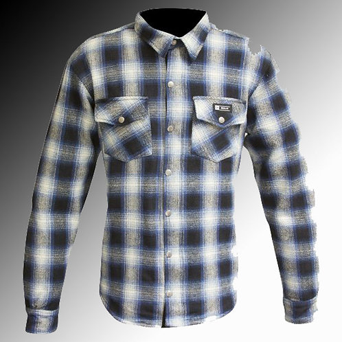 Merlin Street Axe Kevlar armoured blue motorcycle shirt