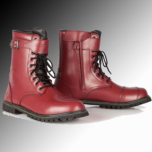 Spada Pilgrim Grande leather cherry red motorcycle boots