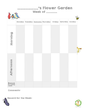 Free resources for parents. Reward chart for families to us at home t encourage good behavior at home.