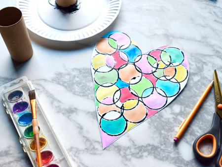 """Stained-glass"" Hearts"