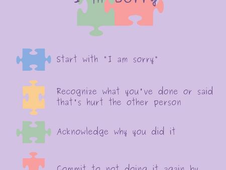 4 Steps to I'm Sorry