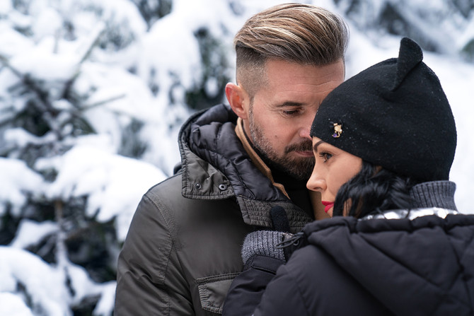Love Story  in einem bayerischen Winterwald