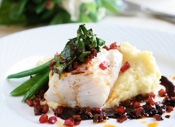 Cod with skin and bones