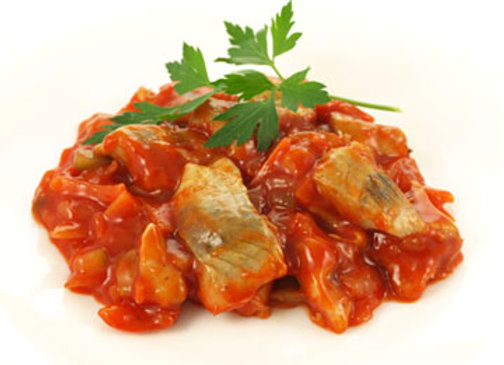 Herring with Tomato Sauce