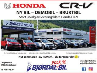 Kampanje HONDA demo- og bruktbilar: