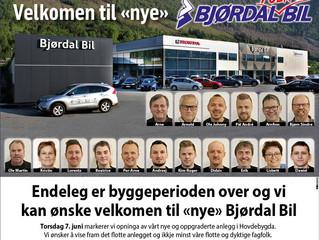 Nyopning Bjørdal Bil AS