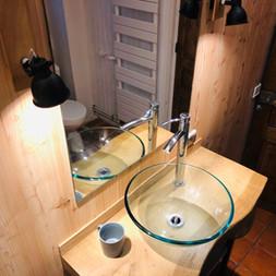 salle de bain chêne et méleze