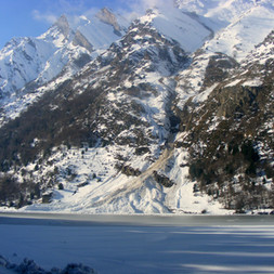 avalanche lac d'Estaing
