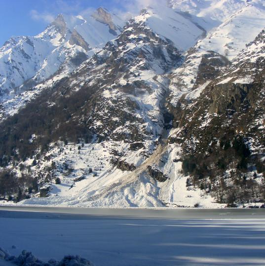 avalanche lac d'Estaing