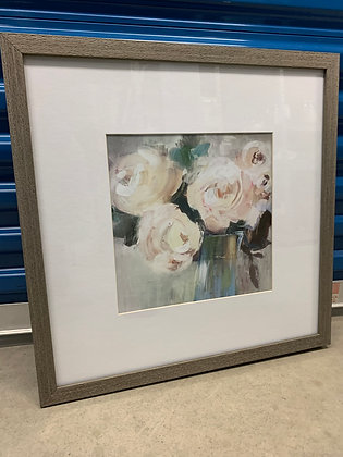 Pink Peonies in Wood Frame