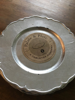 Charger - Antiqued Pewter