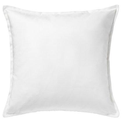 "20"" White Cotton Pillow Cover"