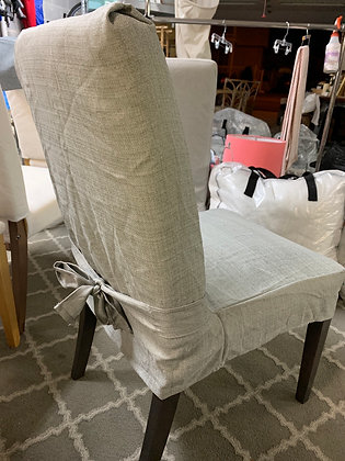 Chair Slipcover - Short Grey w/Tie