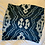 "Thumbnail: 20"" Dark Navy & Silver Ikat Cover"