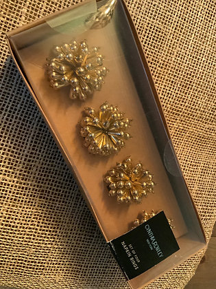 Napkin Rings - Beaded Goldbursts