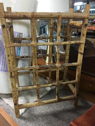 Vintage Rattan Wine Rack