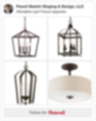 Pencil Sketch Affordable Light Fixtures