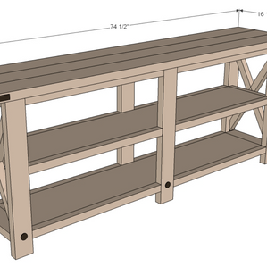 PINTEREST PROJECT: Rustic X Console