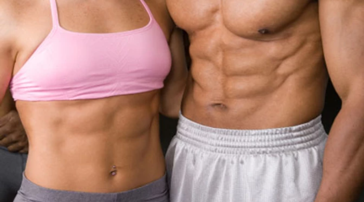 Man & Women Six Pack Abs