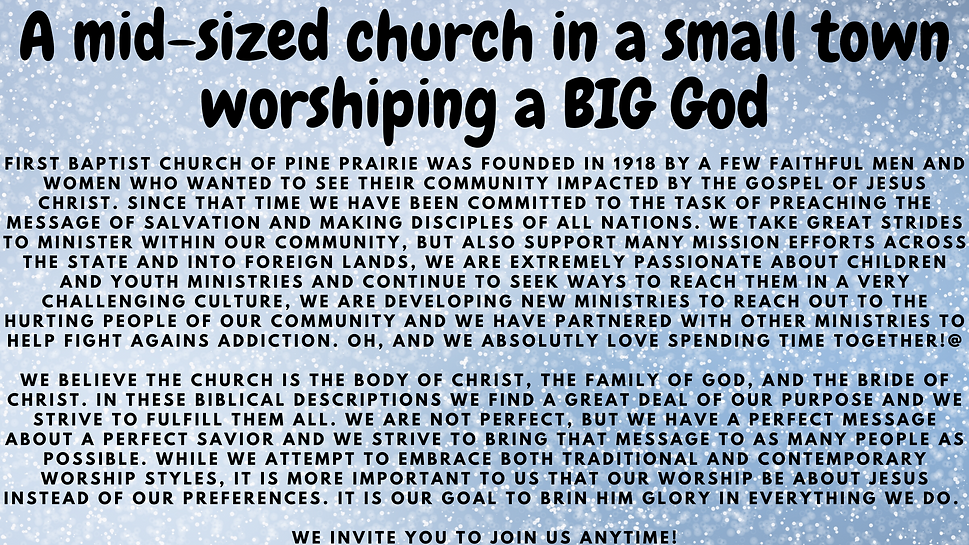 A mid-sized church in a small town worsh