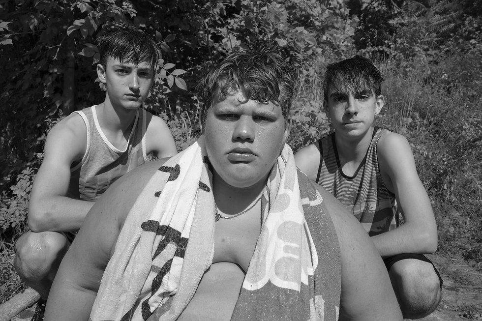 Watering Hole Three Boys and Towel.jpg