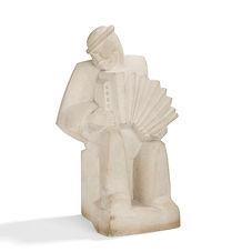 jan joel martel accordéonniste sculpteurs UAM 1925 1930 Musée petit palais Genève pierre reconstituée