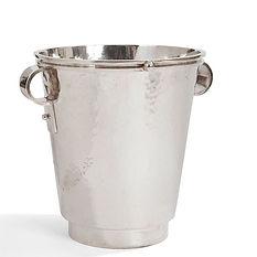 jean despres seau à champagne métal argenté 1960