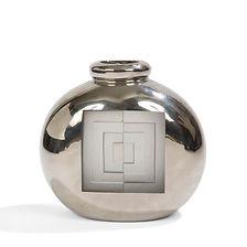 JEAN LUCE vase moderniste UAM 1930 verre argenté géométrie carrés concentriques