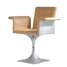 roger tallon fauteuil aluminium cuir