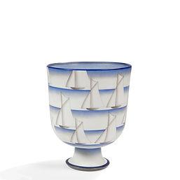 Gio Ponti Richard Ginori Doccia Florence Firenze ceramiche italia italian ceramic futurism futurisme futurismo 1927 1930 sailing boat voiliers vaso vase