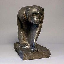 mateo hernandez grande singe granit pierre chimpanzé sculpteur animalier 1930