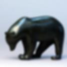 francois pompon ours brun bronze rare patine noire sculpture animalier