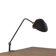 serge mouille lampe de bureau agrafée deux rotules 1957 design 1950 luminaire emblématique métal laqué noir