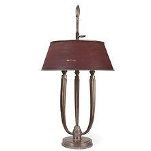 jacques emile ruhlmann LT105 art deco bronze lampe de bureau
