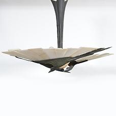 albert cheuret suspension cigognes albatre bronze art deco