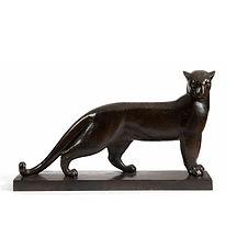 Noël Robert BRUNET panthère bronze sculpteur animalier méconnu