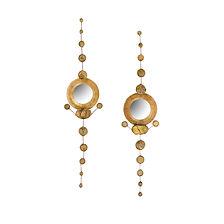 Line vautrin rare paire de petits miroirs sorcière talosel verre 1950 doré