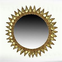 line vautrin miroir chardons or doré 1950
